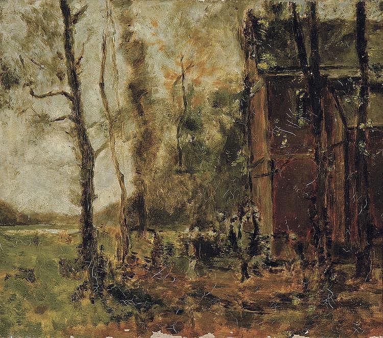 Boulenger  Hippolyte (1837-1874) La messe de Saint-Hubert à Tervueren (esquisse) (1871)