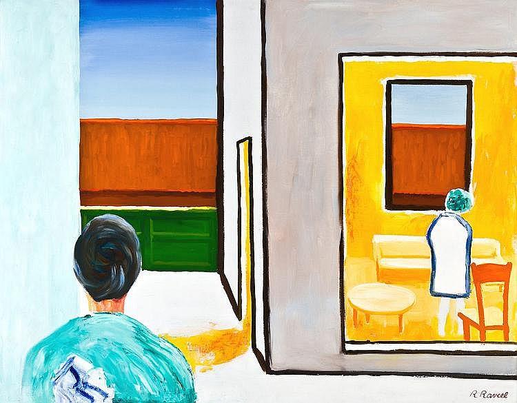 Raveel  Roger (1921-) Ontmoeting van een abstractie en een werkelijkheid - The encounter of abstraction and a reality (1977)