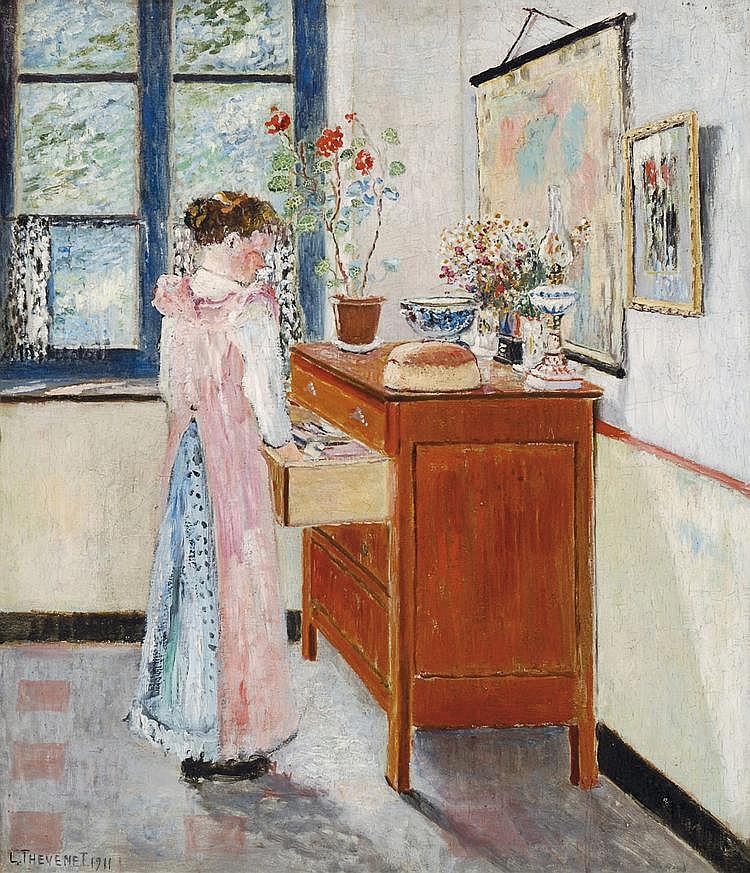 Thévenet  Louis (1874-1930) Femme devant la commode (1911)