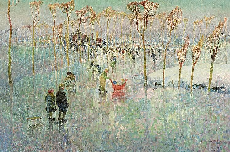 Saverys  Albert (1886-1964) The skaters (1917)