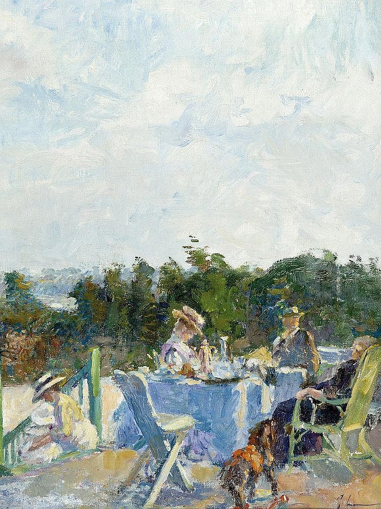 Lemmers  Georges (1871-1944) La terrasse