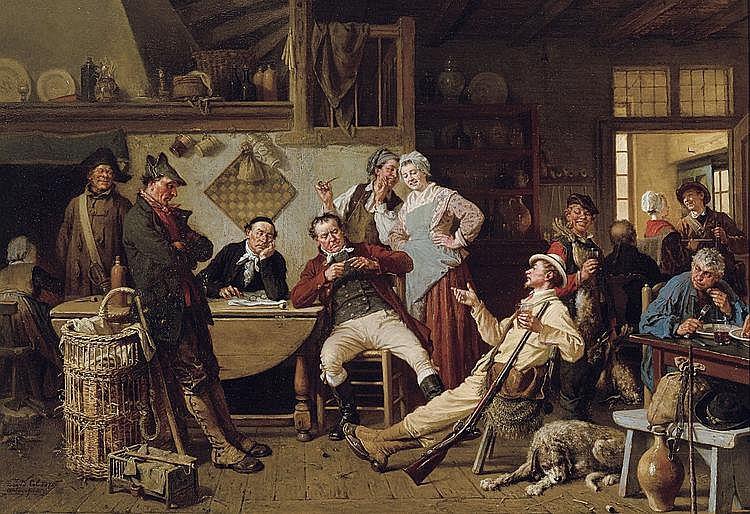 Col  David (1822-1900) Un blagueur - The joker (1875)
