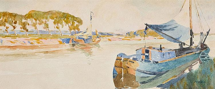 Sijs  Maurice (1880-1972) The Nieuport canal (before 1910)