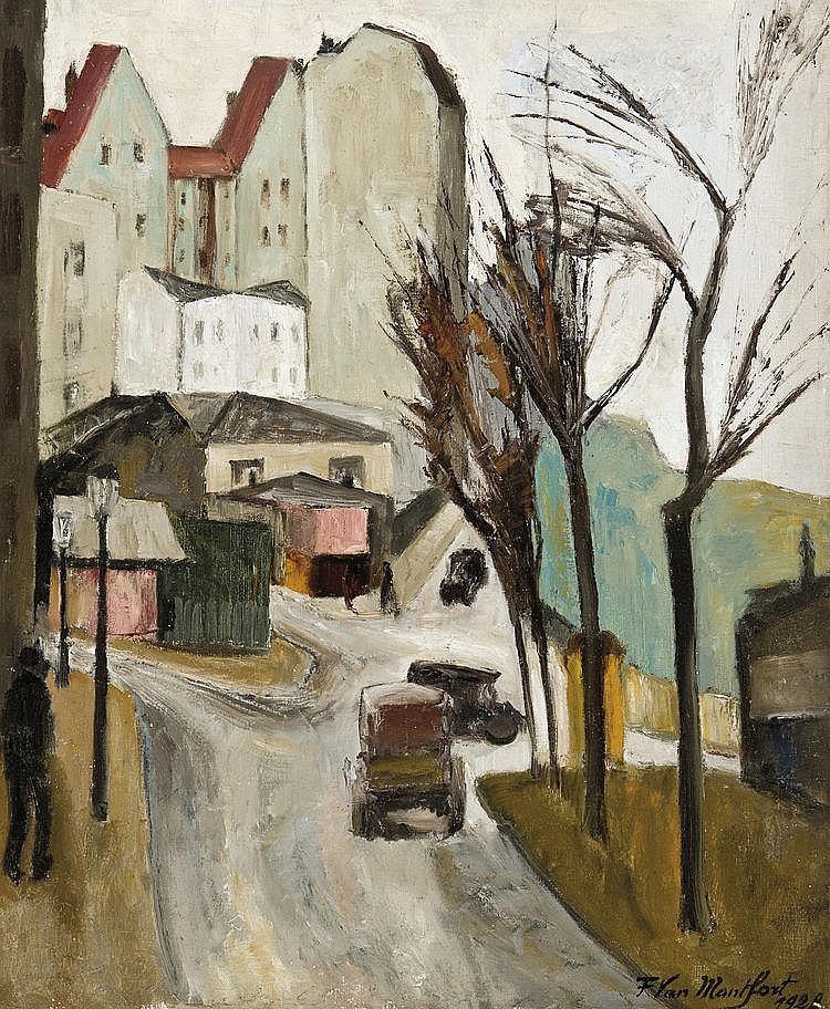 Van Montfort  Franz (1889-1980) Rue Haxo, Paris XXe (1928)