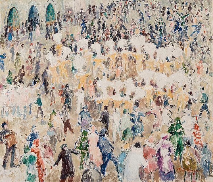 Verhaegen  Fernand (1883-1975) Les Gilles de Binche