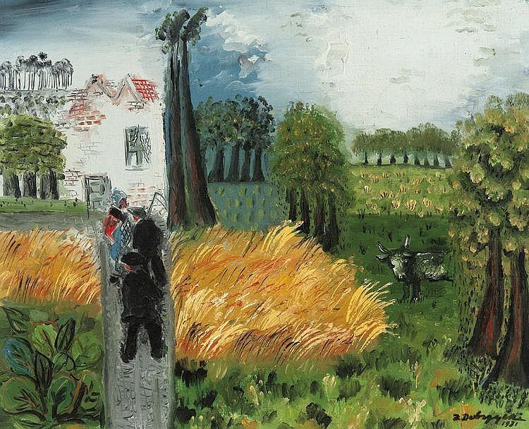 Dobrzycki  Zygmunt (1896-1970) A farm at Damme (1931)