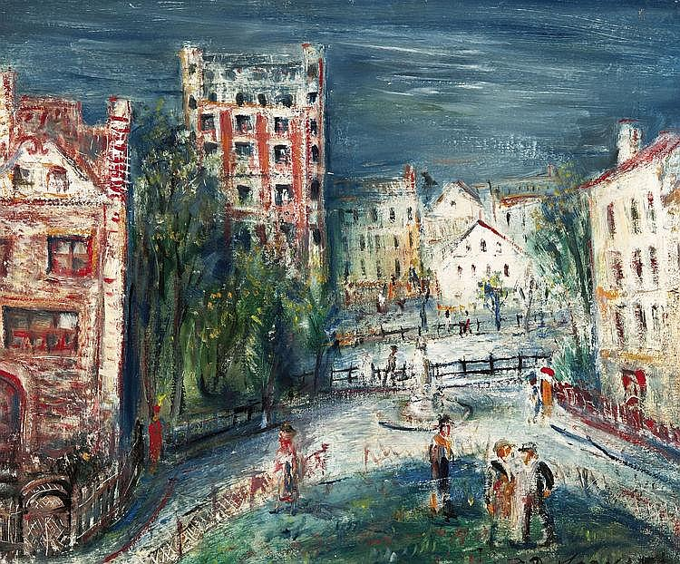 Dobrzycki  Zygmunt (1896-1970) Cityscape (ca. 1930)