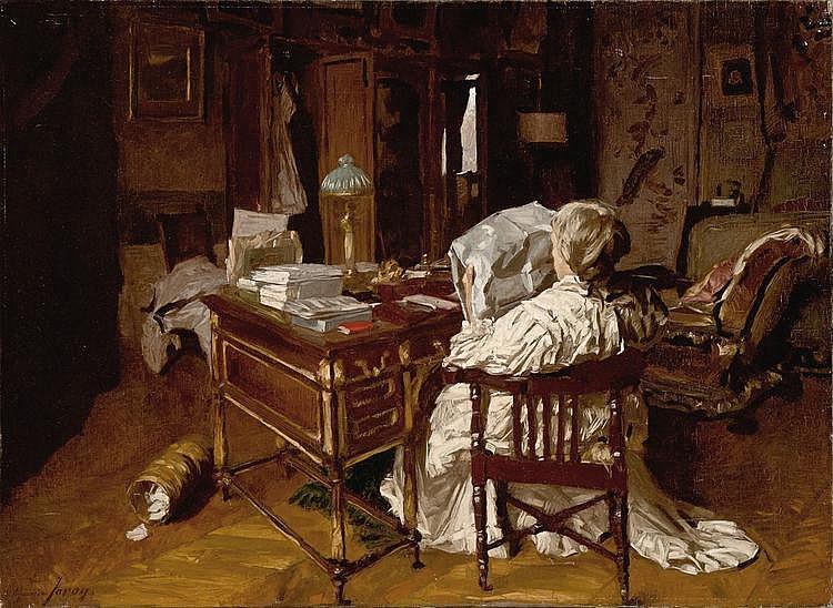 Joron  Maurice (1883-1937) Woman reading - Femme lisant
