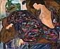 LINDA LE KINFF 1949 - French School MALIKA Canvas, Linda LeKinf, Click for value