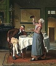 DAVID COL 1822 - 1900 Belgian school SUSPICION