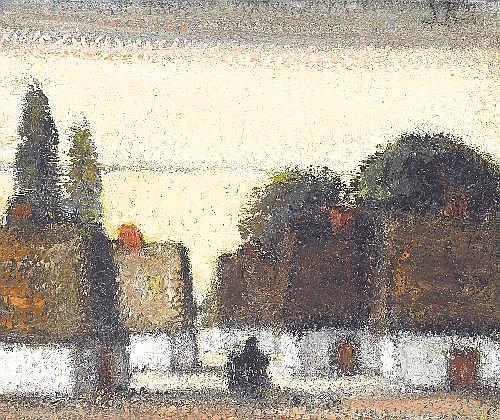 JAKOB SMITS 1855 - 1928 Belgian School VILLAGE