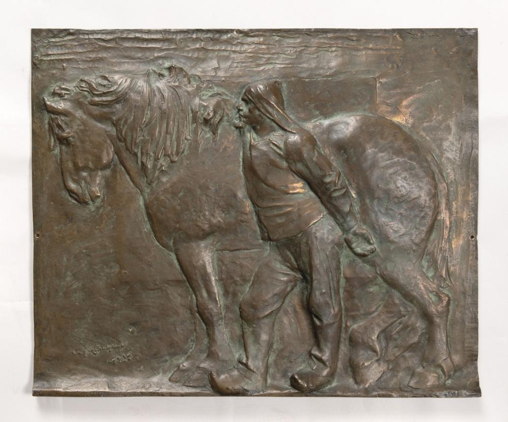 Meunier Constantin - A nation horse. Port of Antwerp (1885)