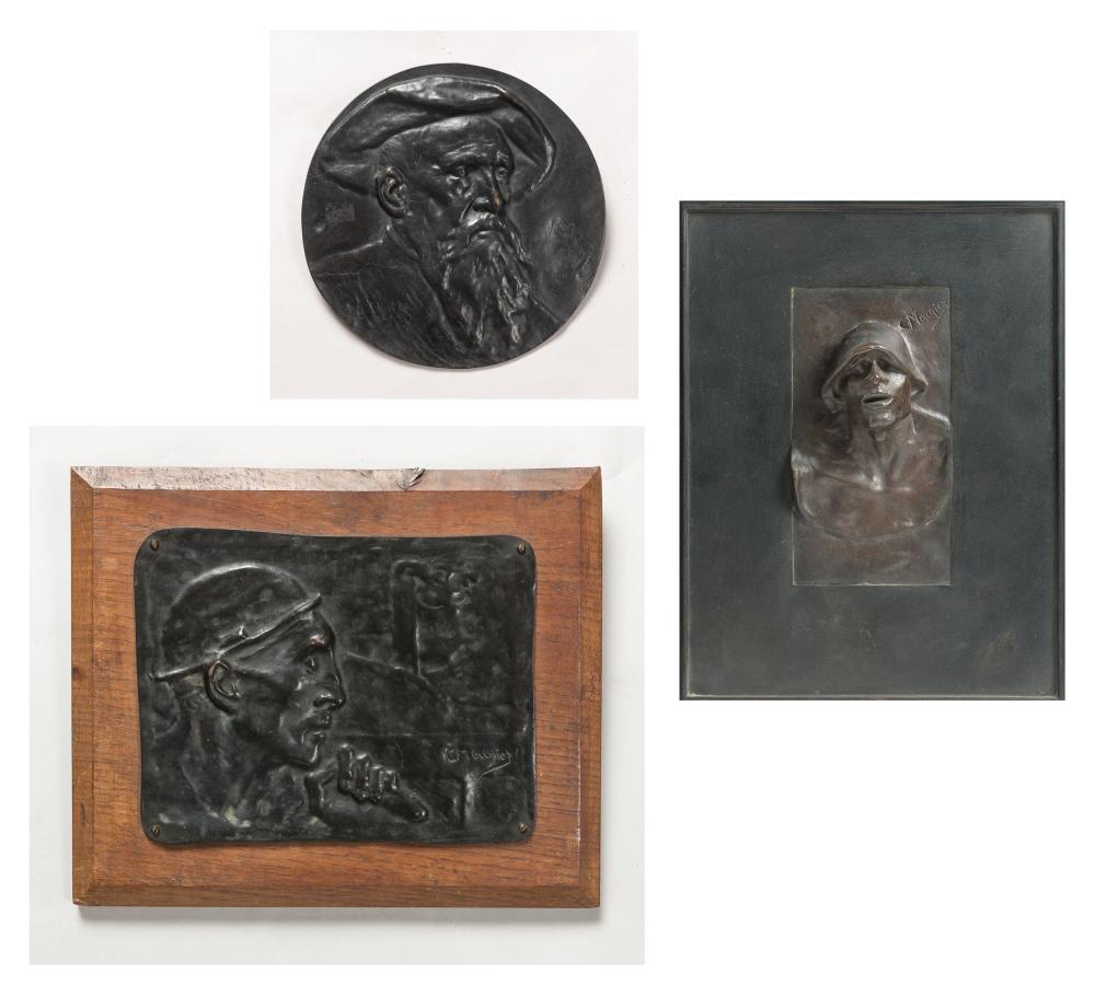 Meunier Constantin - Self-portrait (1899) - The miner (1904) - Tête de puddleur (1885)