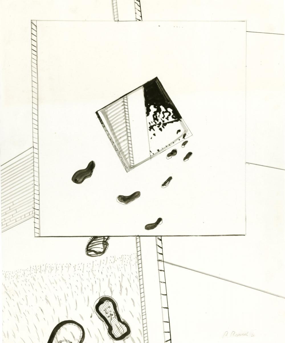 Raveel Roger - Design for a sculpture (1969)