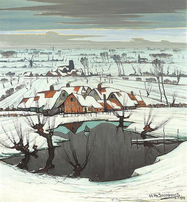 ACHIEL VAN SASSENBROUCK 1886 - 1979 Belgian School