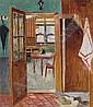 LOUIS THÉVENET 1874 - 1930 Belgian School INTERIOR, Louis Thevenet, Click for value