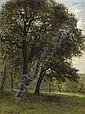 CÉSAR DE COCK 1823 - 1904 Belgian School LANDSCHAP