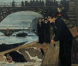 HENRI EVENEPOEL 1872 - 1899 Belgian School LE NOYÉ