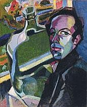 JOS ALBERT 1886 - 1981 Belgian School AUTOPORTRAIT