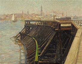GERARD JACOBS 1865 - 1958 Dutch School ZICHT OP