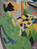 JAN COCKX 1891 - 1976 Belgian School LA COUTURIÈRE