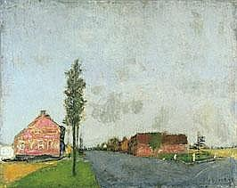 RIK SLABBINCK 1914 - 1991 Belgian School THE ROAD
