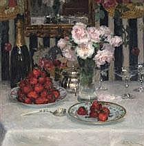 JOSEPH DE BELDER 1871 - 1927 Belgian School ROSES
