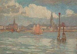 GERARD JACOBS 1865 - 1958 Dutch School ZICHT OP DE