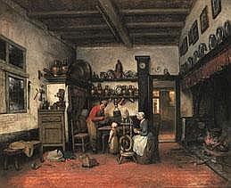 HENRI DE BRAEKELEER 1840 - 1888 Belgian School