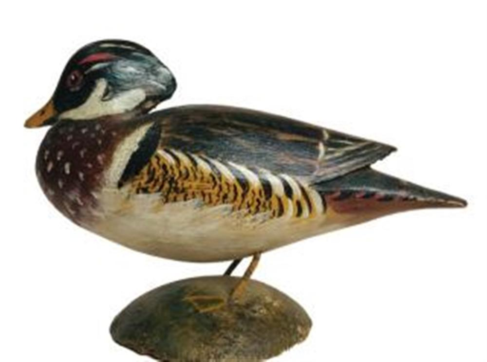 Miniature Wood Duck Drake by Crowell