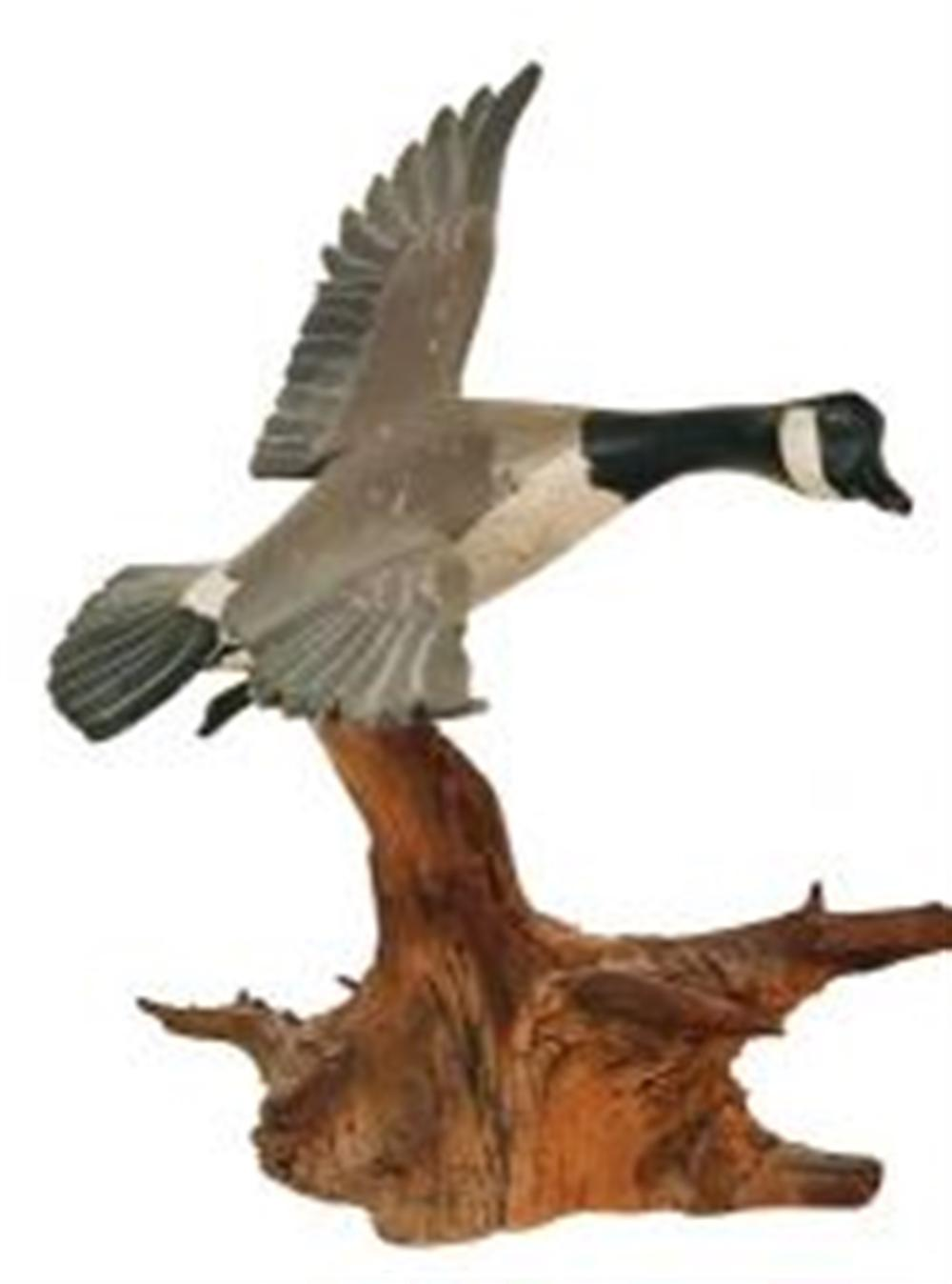 Miniature Flyer Canada Goose by Russ Burr