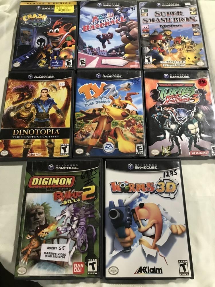 8 Nintendo Gamecube Games