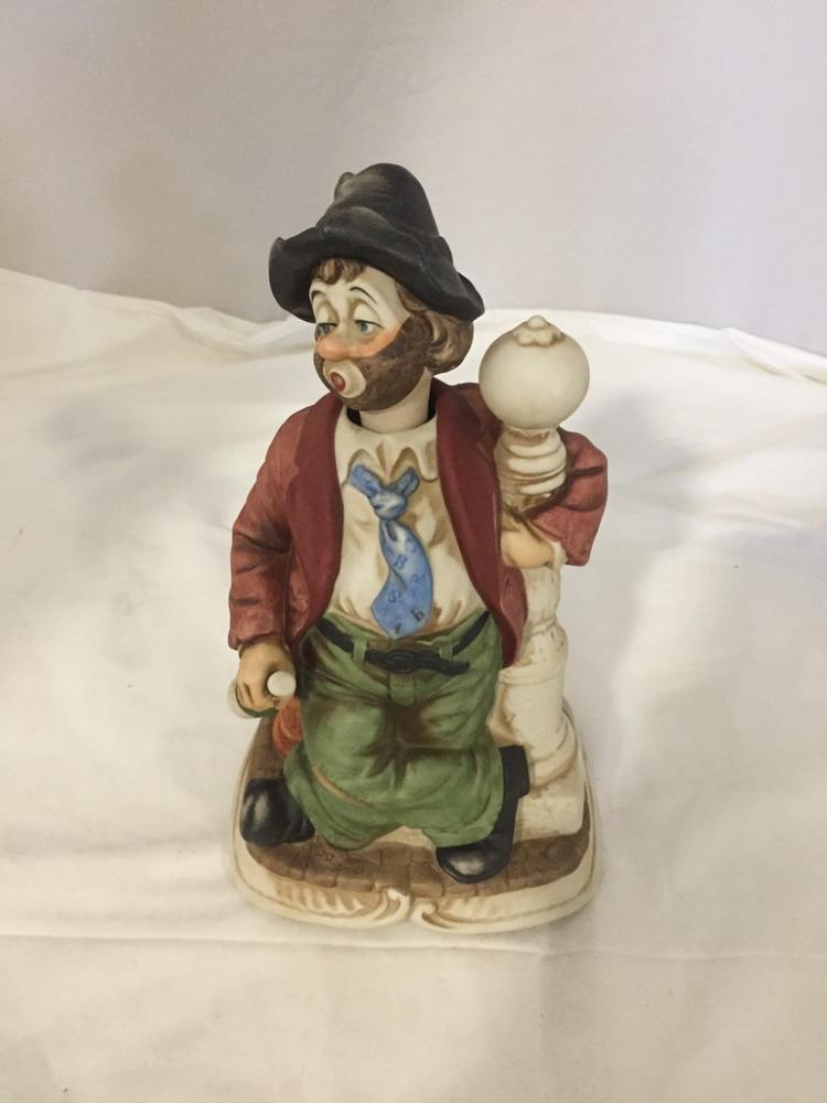 Melody In Motion Lamp Post Willie Hobo Figurine By Waco Musi