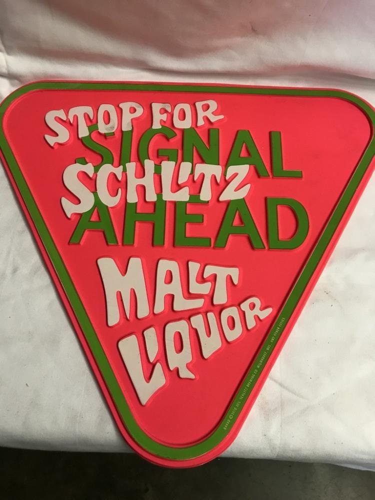 Pair 1970u0026#39;s Schlitz Malt Liquor Signs