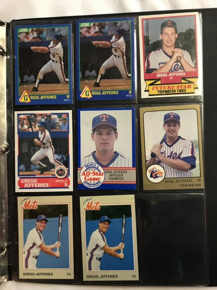 3 Ring Binder with approximately 100 assorted Gregg Jefferie