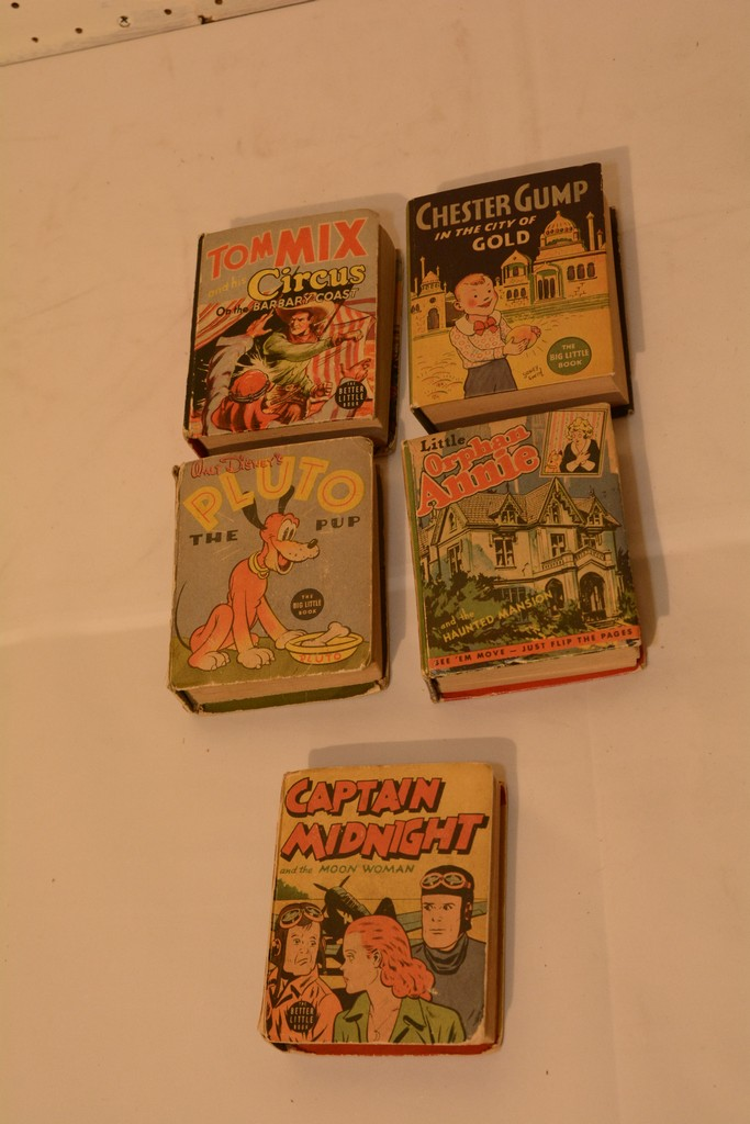 Lot of 5 Big Little Books Including Capt. Midnight