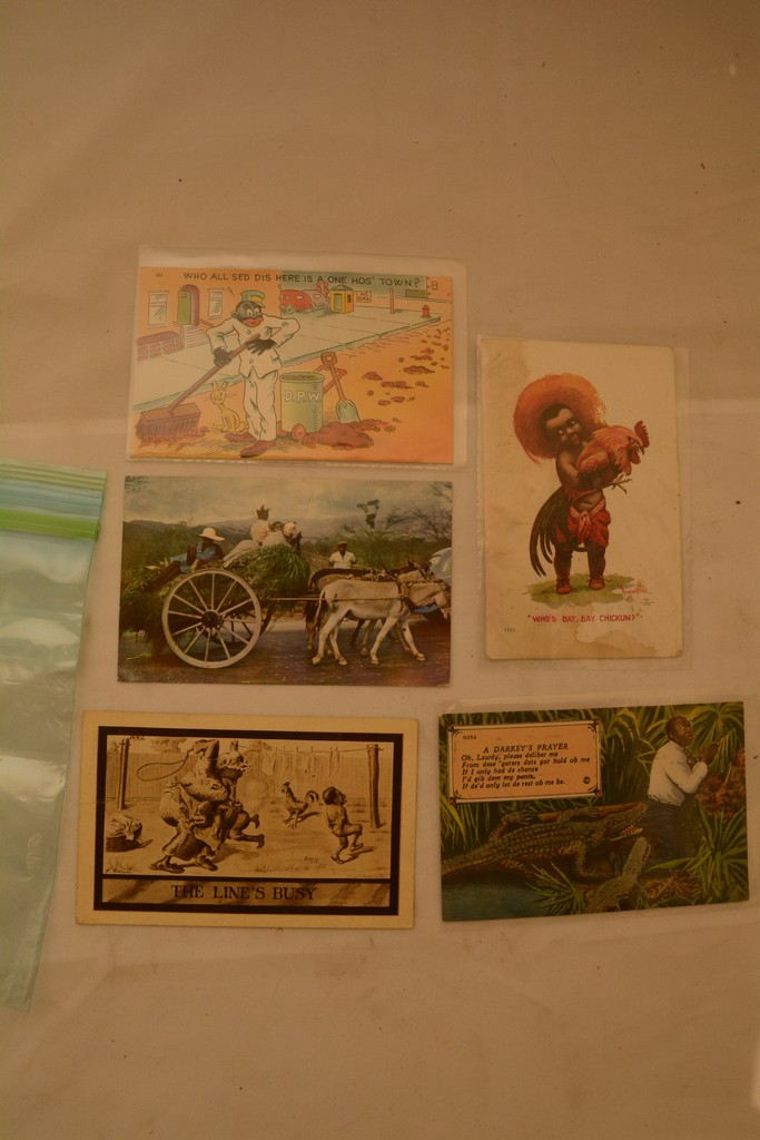5 Black Memorabilia Post Cards