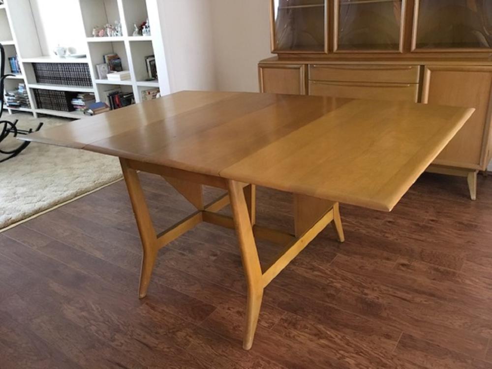 heywood wakefield dining room table | Vintage Heywood Wakefield Dining Table