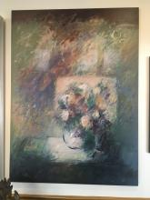 Floral Oil on Canvas Signed Mary Lou Siefer