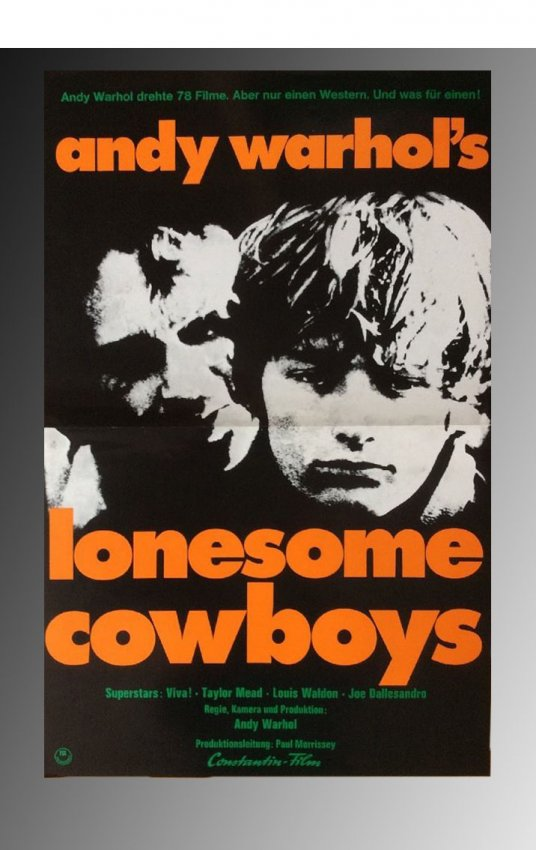 Sold Price: Andy Warhol, Lonesome Cowboy Movie Poster ...