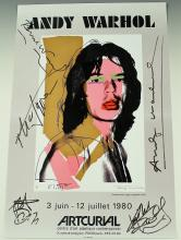 Andy Warhol, Rolling Stones Signed Artcurial Poster
