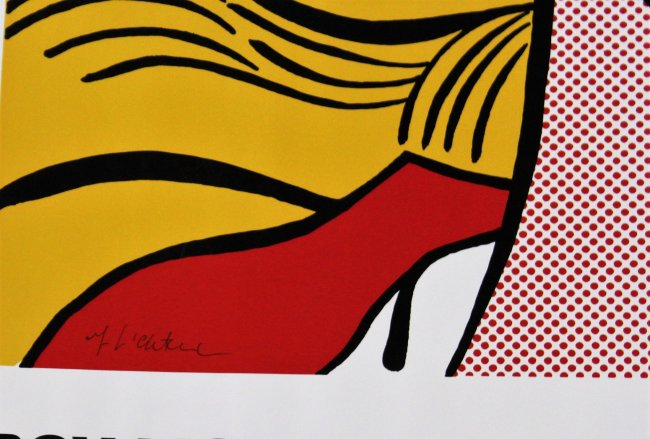 Roy lichtenstein crying girl poster signed for Poster roy lichtenstein