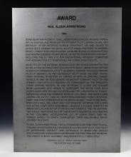 Apollo Award Given to Neil Armstrong