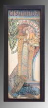 Vintage Alphonse Maria Mucha Mirror