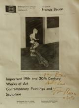 Francis Bacon Signed Exhibition Poster