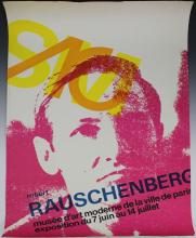 Robert Rauschenberg, 1968 Paris Exhibition Poster