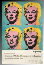 Andy Warhol Signed Marilyn Monroe Exhibition Poster