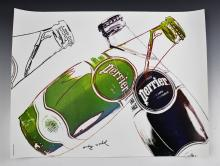 Andy Warhol Perrier Advertisement Poster