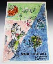 Marc Chagall, Four Seasons Poster