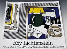 Roy Lichtenstein, Signed Stockholm Exhibition Poster